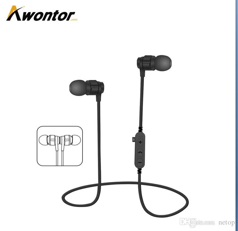 d18855ac599 MS T8 Bluetooth 4.1 Earphones Sport Wireless In Ear Headset With Microphone  For IPhone X Mobile Phone With The SD Card Slot Best Smartphone Earbuds ...