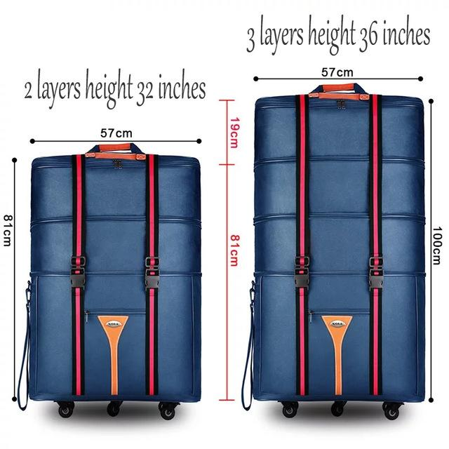 debe82a4c Travel Tale 32 36 Inch Large Capacity Oxford Cloth Rolling Luggage Bag  Abroad To Study And Move To Move Folding Trolley Suitcase Backpacks Handbags  From ...