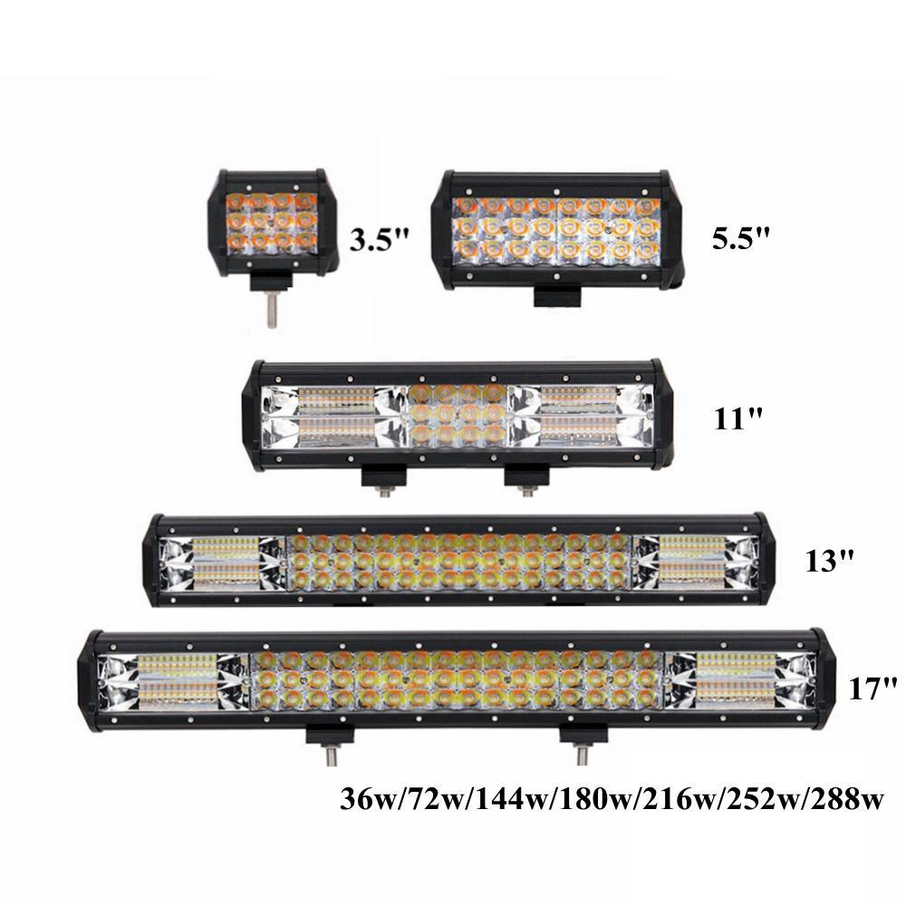 a fila singola per auto camion per fuoristrada sottile SUV ATV 12 V Barra luminosa a LED da 81,3 cm 24 V