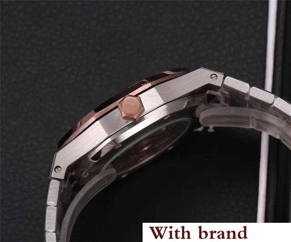 b5478371fd20 Watch For Men Women Fashion Stainless Steel Strap Automatic Couple Watches  Men Swiss Wristwatch Sapphire 15400 Chronograph Gold Watches Expensive  Watches ...