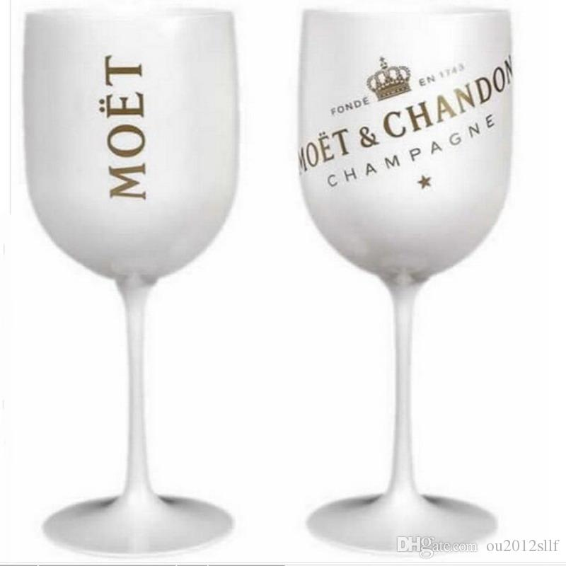 Wine Glasses champagne Plastic Electroplated White, pink GOLD PS goblet moet Cup one piece