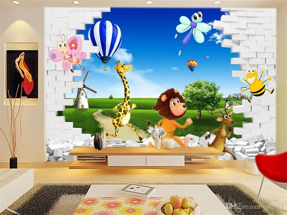 Открытки для, детские 3д картинки на стену