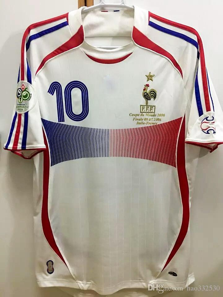 a54d81a0c 2019 2006 World Cup Final Zidane Jerseys Retor Jerseys Zidane Final Match  Vs Italy Classic Shirt Henry Ribery Vieira Makelele Abidal Rugby Jersey  From ...