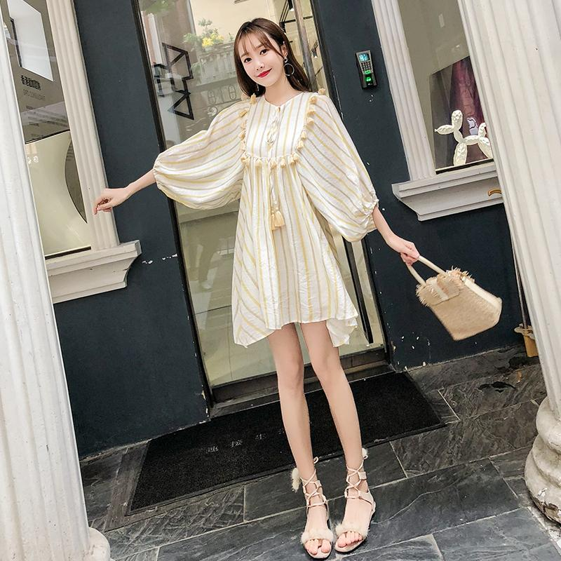 a6575f0dfd 2019 2019 New Arrive Spring Maternity Dress Woman Cute Striped Large Size  Dresses Pregnant Woman Maternity Clothing MD 00609 From Bradle