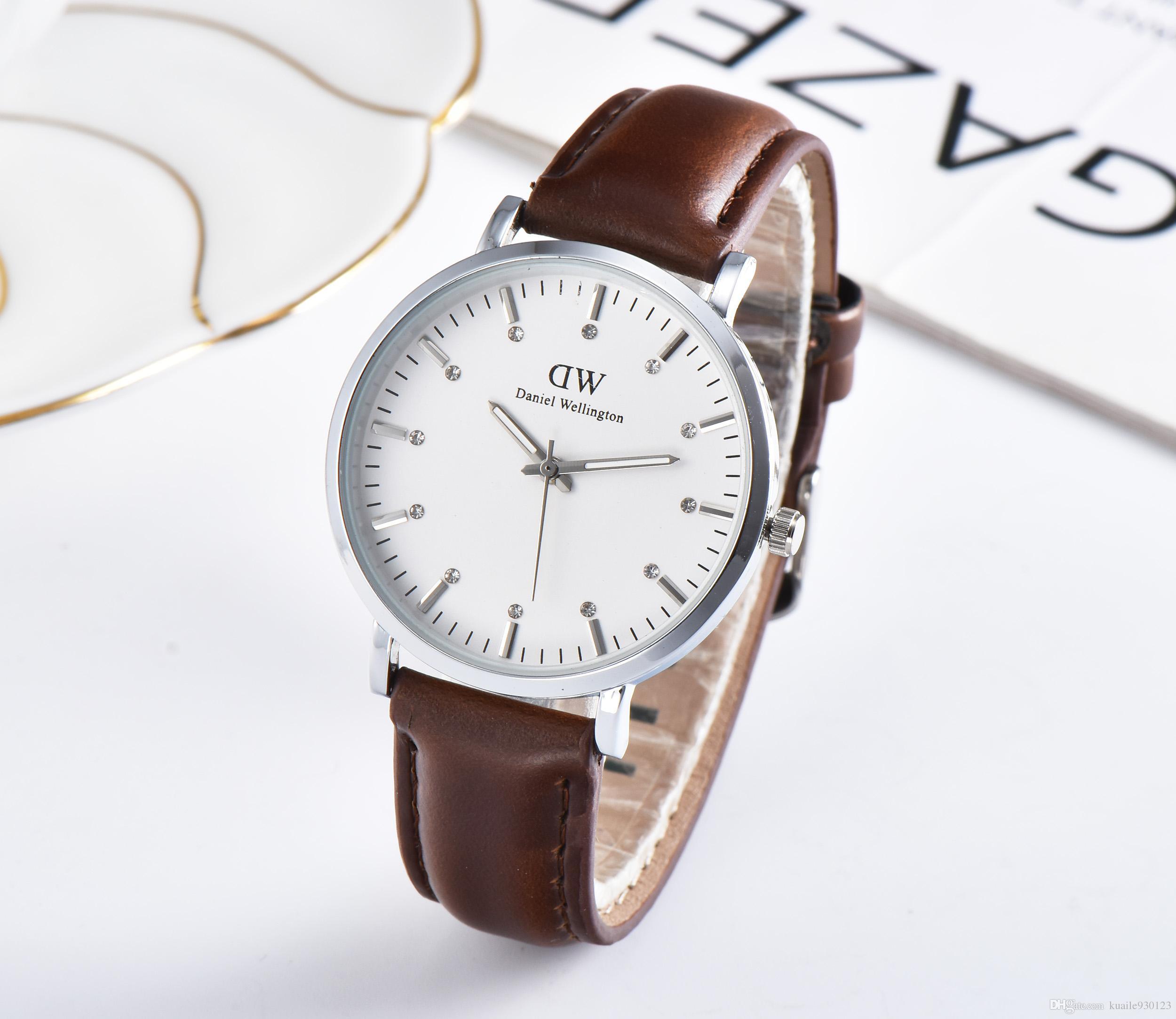 67bbd5a1bb4a5 AAA Daniel Wellington Watches Top Luxury Brand Dw Watch Couples Watch Men  Women Fashion Casual Leather Watch DW Diamond Watches 24 Hour Wristwatch  Watch ...