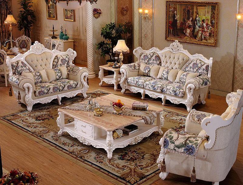 Furniture Italian Design Fabric Sofa Set