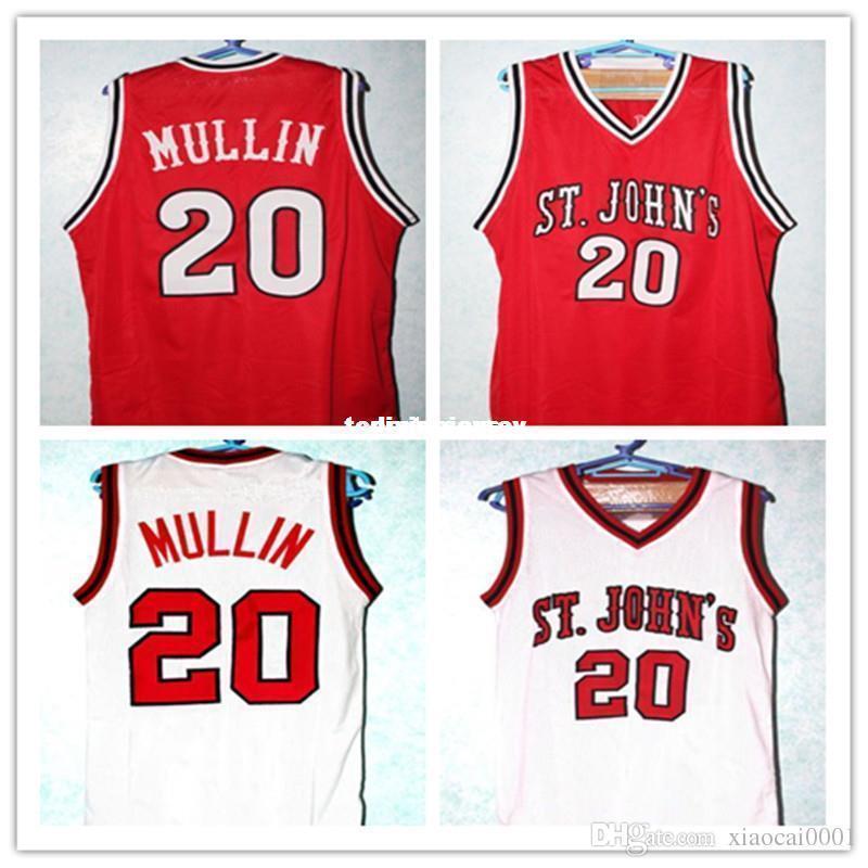 timeless design b7803 a0a70 Cheap #20 Chris Mullin JERSEYS St John s University Basketball Jersey,Chris  Mullin College vest T-shirt Jerseys,Men s Stitched Jer