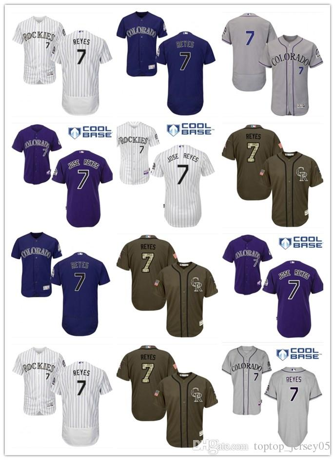 finest selection ace07 0484d 2018 top Colorado Rockies Jerseys #7 Jose Reyes Jerseys men#WOMEN#YOUTH#Men  s Baseball Jersey Majestic Stitched Professional sportswear