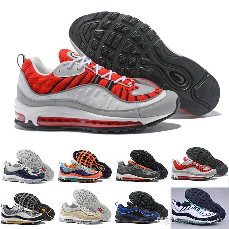 Nike air max 98 2018 nueva moda estilo clásico zapatos para hombre zapatos deportivos auténticos amortiguador de aire zapatillas altas zapatillas de