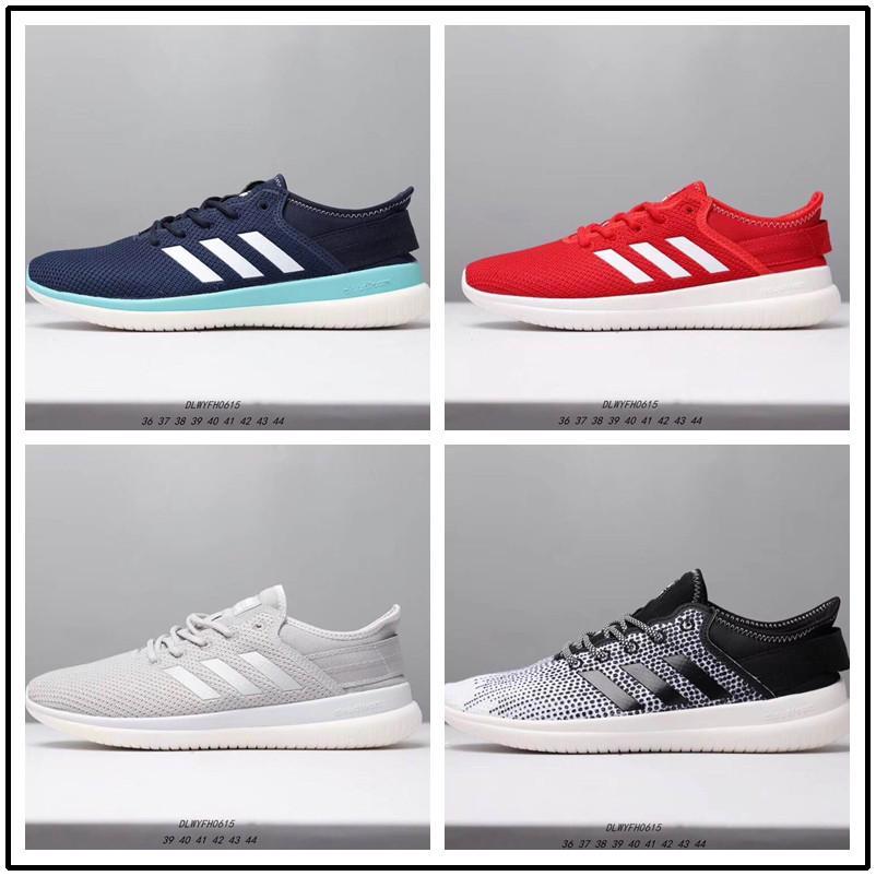 Designer shoes Adidas men women 2019 Billig Verkauf NEO cloudfoam PURE Lässige Laufschuhe für Hochwertige Schwarz Grau Rosa Männer Frauen Casual