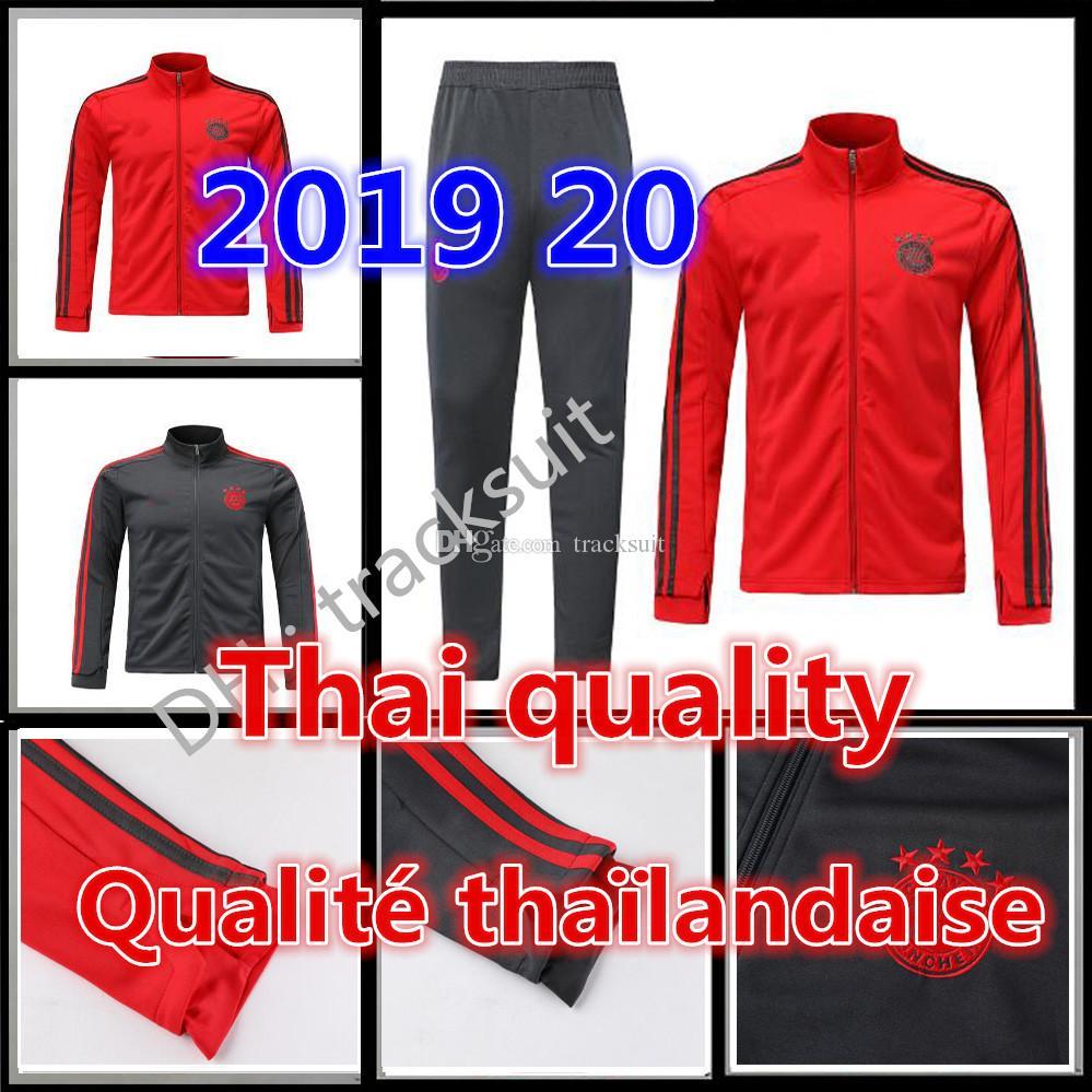 2019 MATA POGB training suit Bayern Munich jacket soccer tracksuit 19 20 JAMES MULLER LUKAKU ALEXIS track suits Man football jackets