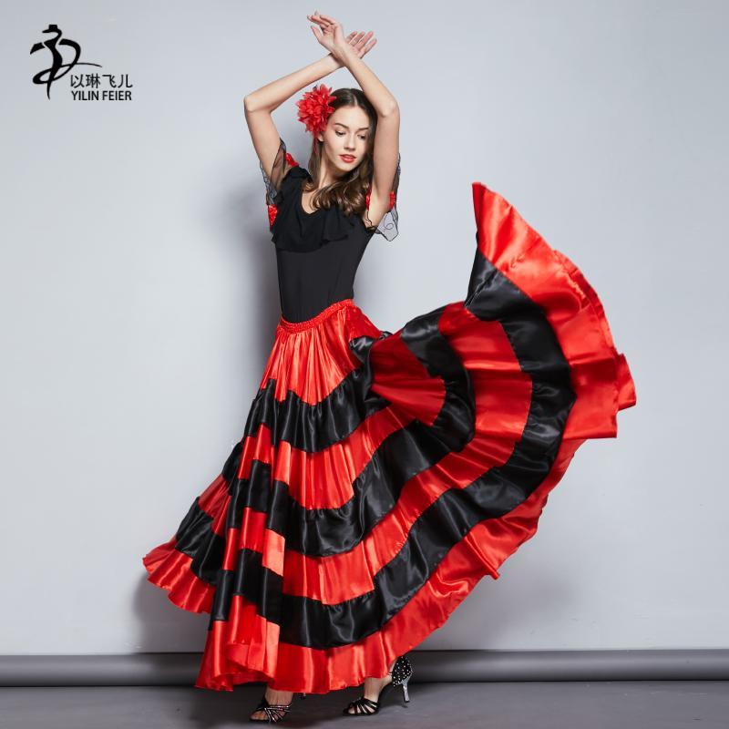 f849b8cd82 Compre Falda Flamenca Falda Gitana Trajes De Baile Españoles A  35.1 Del  Vikey16