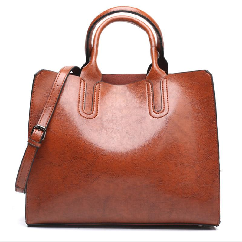 Leather Handbags For Women High Quality Casual Shoulder Bag Trunk Tote Messenger Crossbody Solid Color Large Bolsos Back To Search Resultsluggage & Bags