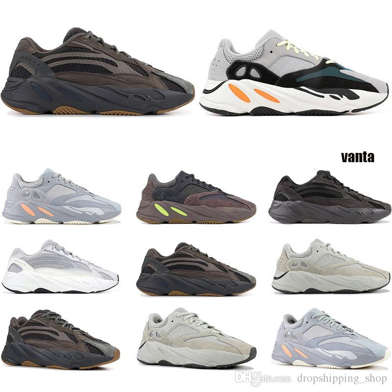 New Wave Runner 700 V2 Vanta Analog Static Inertia Solid Grey Mauve Women Kanye West Running Shoes mens trainers Sports Sneaker size 36-45