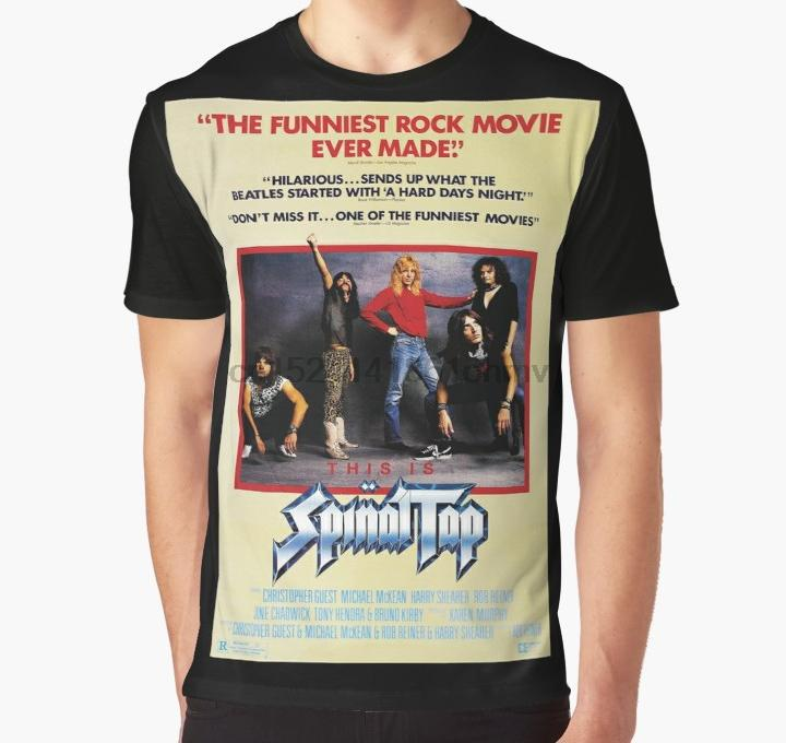 Camiseta estampada 3D All Over Print Hombres camiseta divertida This Is Spinal tap Full Print Big T-Shirt