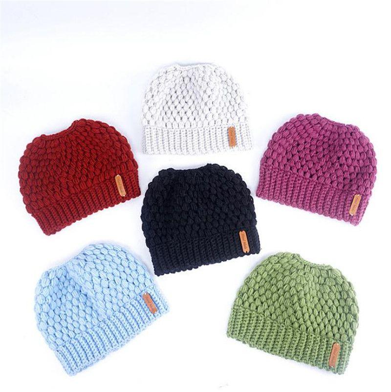 купить оптом хвост шапочка зимние шапки для женщин крючком вязать