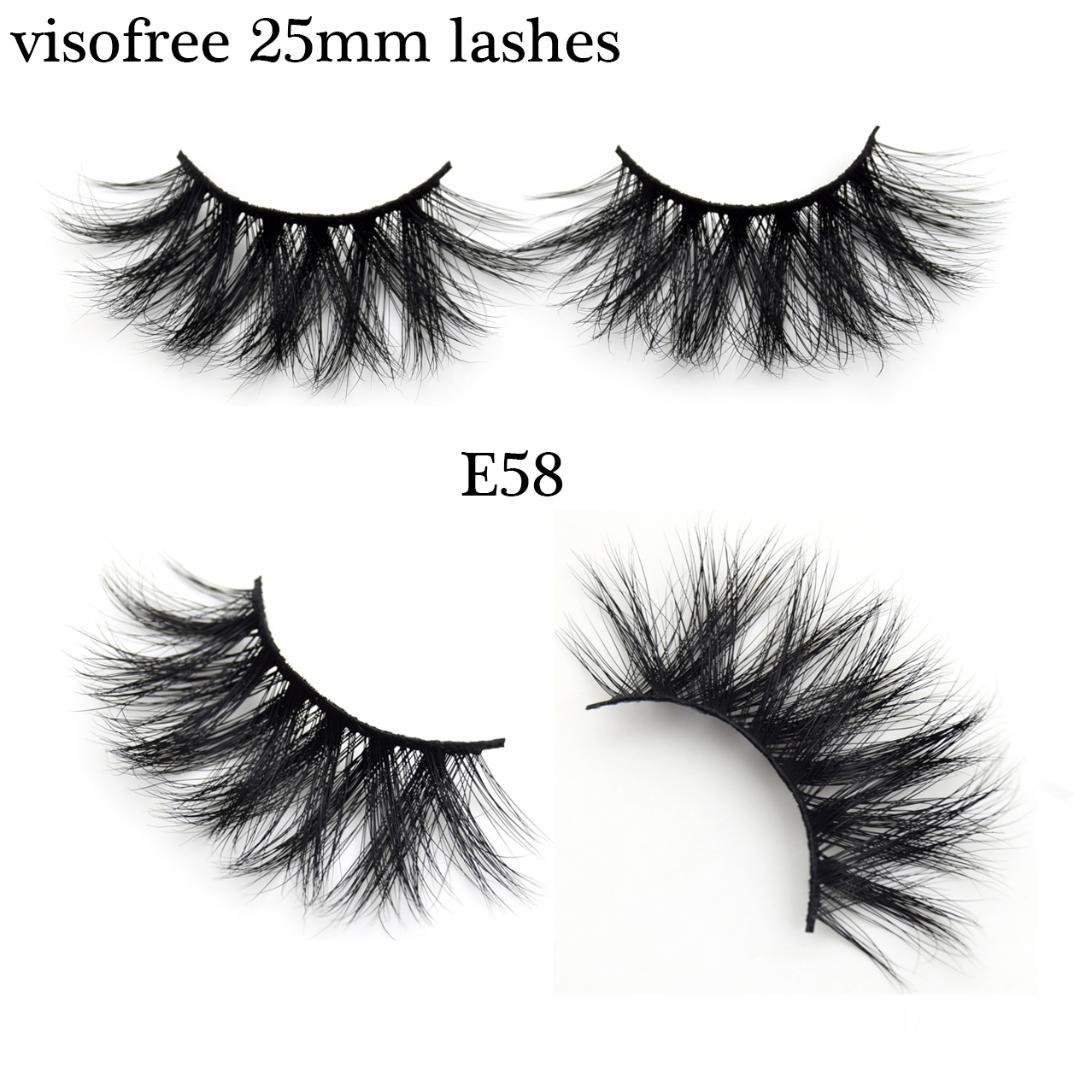 db761cc94df Visofree 25mm Lashes Cruelty Free Mink Eyelashes False Eyelashes ...