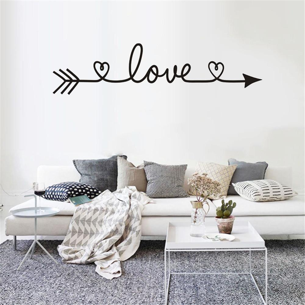 2019 multiple Colour Love arrow decals wall sticker living room bedroom  vinyl engraved wall decals home decoration stickers O28