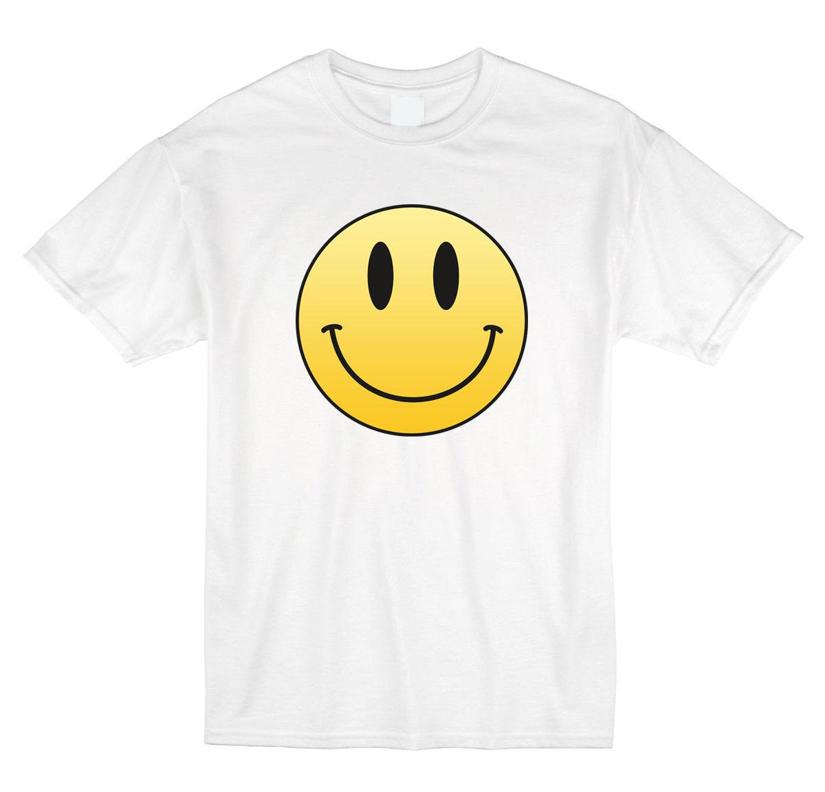 029c01c7a46b Traditional Happy Face Novelty White T Shirt Classic Happy Face Adult &  YouthFunny Unisex Casual Tshirt Awesome T Shirt Clever T Shirts From  Burnthebeans, ...
