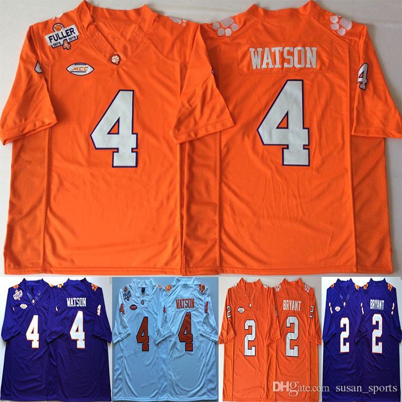 095b2fddc 2019 NACC Clemson Tigers Orange 4 DeShaun Watson Jersey Purple 2 Sammy  Watkins Men College Football Jerseys From Susan sports