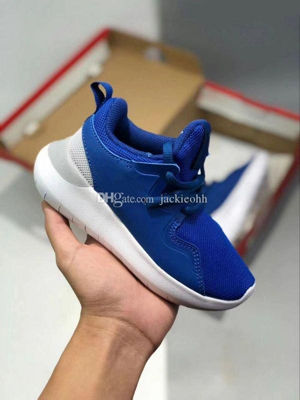 separation shoes 630ed 46c3b High Quality 2018 Kids Infant Toddler Roshes Run 4 Blue And Black Youth  Boy S Girl S Preschool Running Shoes Lodon Outdoor Sneakers 26 35 Boys  Running ...