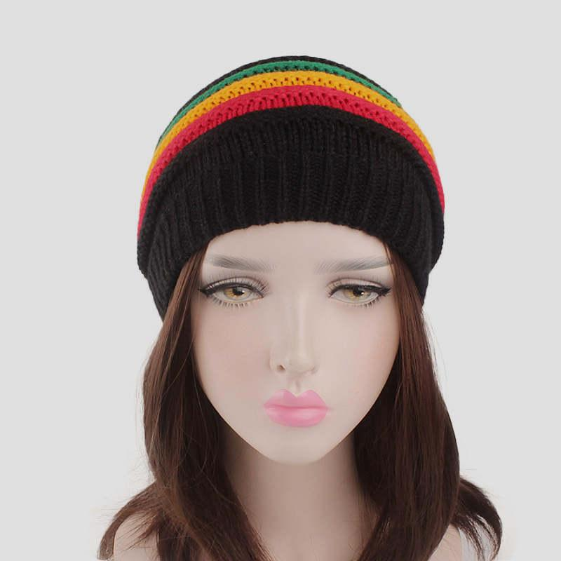 8f531b1ef High quality knitted skullies beanie women warm winter hats lady multicolor  streetwear cap gorros inbierno mujer bonnet femme