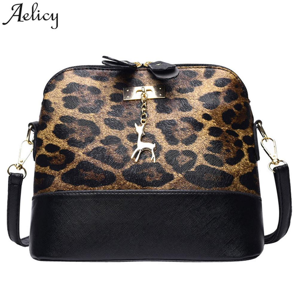 d7dc21be9919 Aelicy Bag Leopard Print Women Shoulder Bags Girls Vintage Soft Leather  Fawn Pendant Shell Crossbody Bag Zipper Messager Bags Rosetti Handbags Name  Brand ...