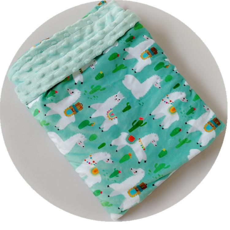Baby flannel Blanket Cartoon Animal Toddler Spring Summer Bubbles Blanket Boy Girl Swaddle Bedding Covers Wrap 10Styles