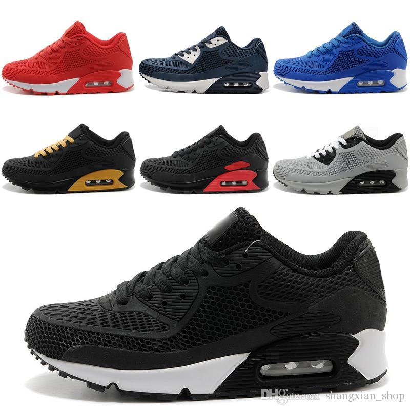 reputable site 66278 2ddbb Nike air max KPU Neue beiläufige Schuhe Luftpolster 90 KPU  Mann-Frauen-Qualitätsfreizeitschuhe preiswert alle schwarzen Schuhe geben  Verschiffen-Größe ...