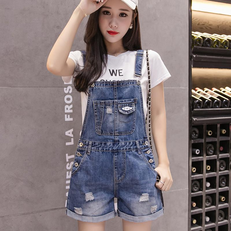 Women's Clothing Bottoms Plus Size Jumpsuits And Rompers For Women Wide Leg Denim Overalls 2018 Spring Elegant Rompers Womens Jumpsuit Combishort Femme