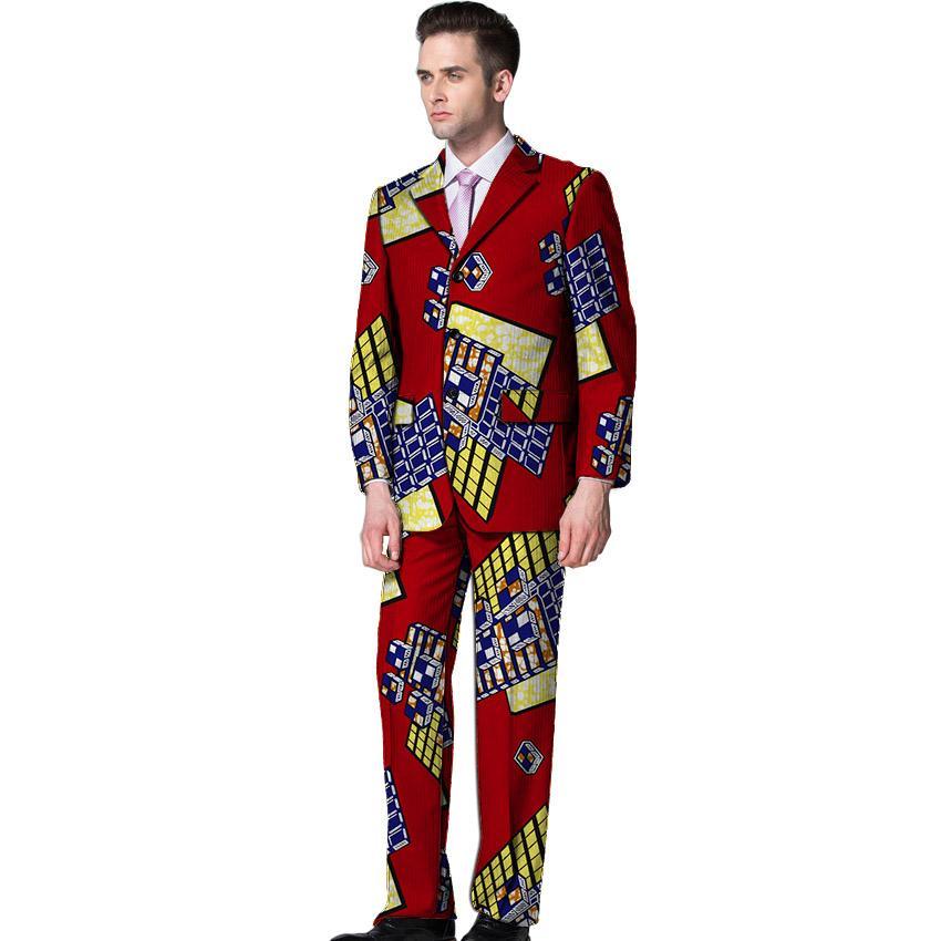 Compre Novedades Trajes De Pantalón Africanos Para Hombre Pantalones  Dashiki Con Estampado De Ankara 80736e20954