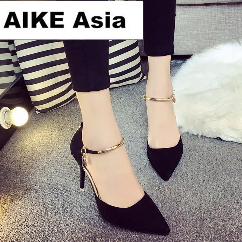 Dress Shoes Hot 2019 Fashion Womens Stiletto Thin High Heels Platform  Summer Style Women Pumps Fight Color Rivet T Strap 10cm 7cm Pumps Shoes  Slippers For . 8a9533cbc5ee