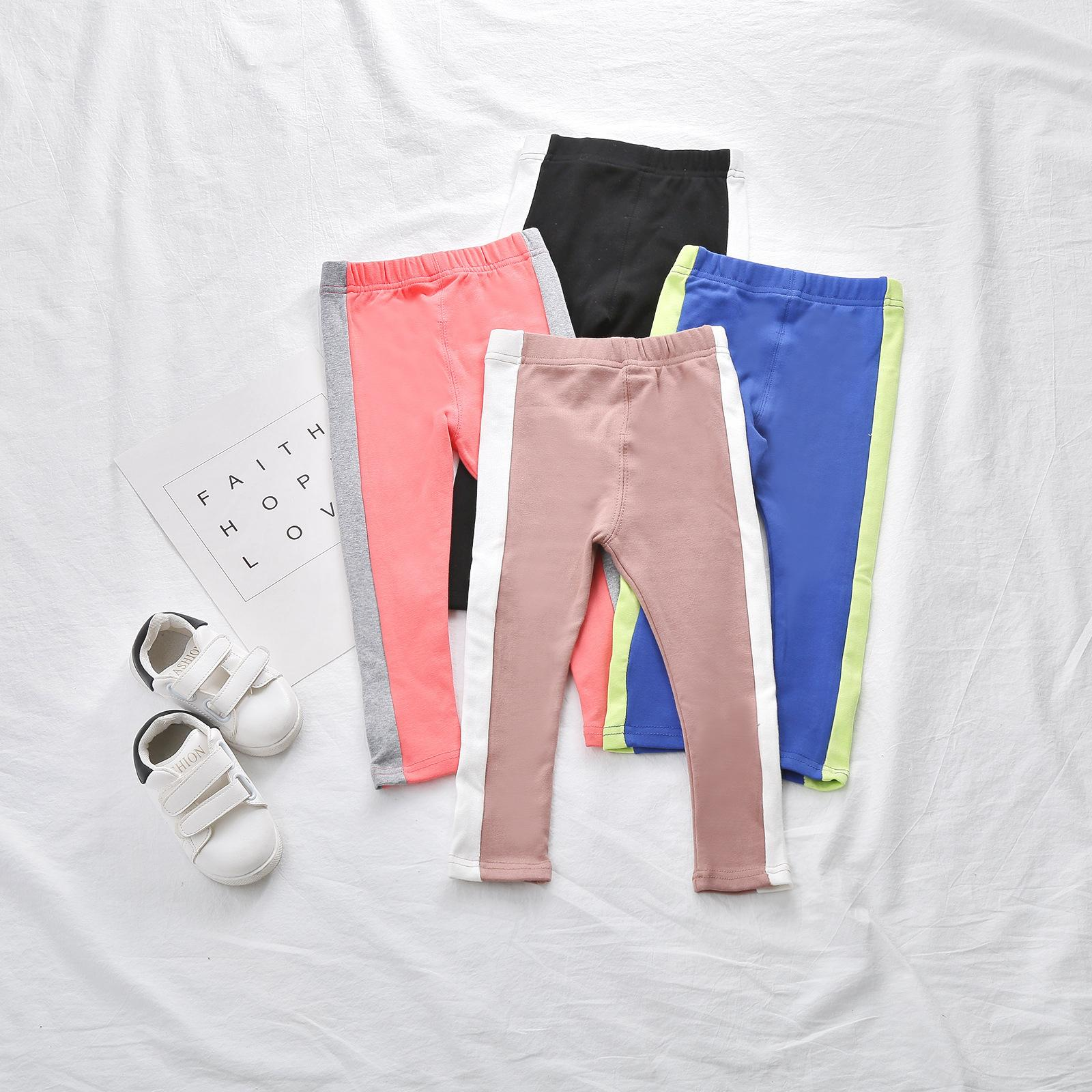 ee5f1ef2950 Children Clothes Toddler Baby Girls Leggings Slim Trousers Girl Pants  Spring Autumn Kids Boys Pants Patchwork Colors Wholesale Kids Hiking Pants  White Dress ...