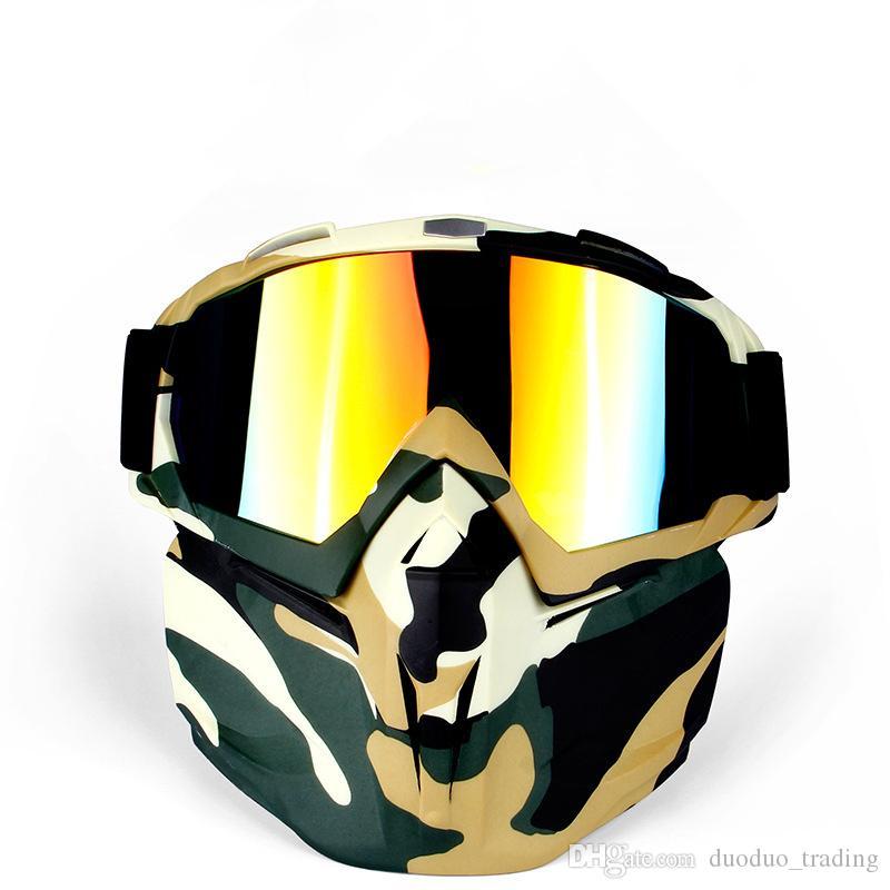 Compre Esportes De Inverno Esqui Snowboard Snowmobile Óculos De Neve De Inverno  Óculos De Esqui À Prova De Vento De Esqui Motocross Óculos De Sol Com ... 902027d1d6