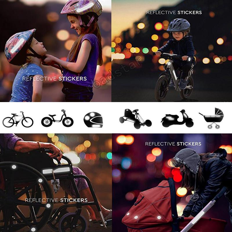 Imported From Abroad 5cmx3m Safety Mark Reflective Tape Stickers For Bicycles Frames Motorcycle Self Adhesive Film Warning Tape Reflective Film Reflective Material