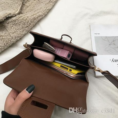 2019 Fashion Women Crossbody Bag Simple Japan And Korean Style PU Leather  Flap Bag For Three Colors Women Crossbody Bag Flap Bag Shoulder Bag Online  with ... b63375676a4c0