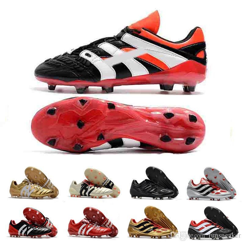 07e9d25a78e 2019 High Quality Football Boots Dream Back 98 Predator Accelerator  Champagne FG IC Soccer Shoes Soccer Cleats Sneakers From Runsneaker