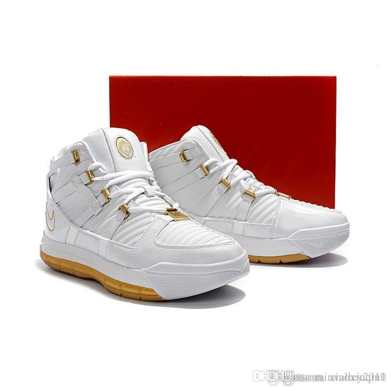 new style 83565 7733d 2019 Mens Retro Lebron 3 Basketball Shoes For Sale MVP Christmas BHM Oreo  Kids Lebrons 16 Boots Sneakers With Original Box Size 7 12 From  Rainvalley2010, ...