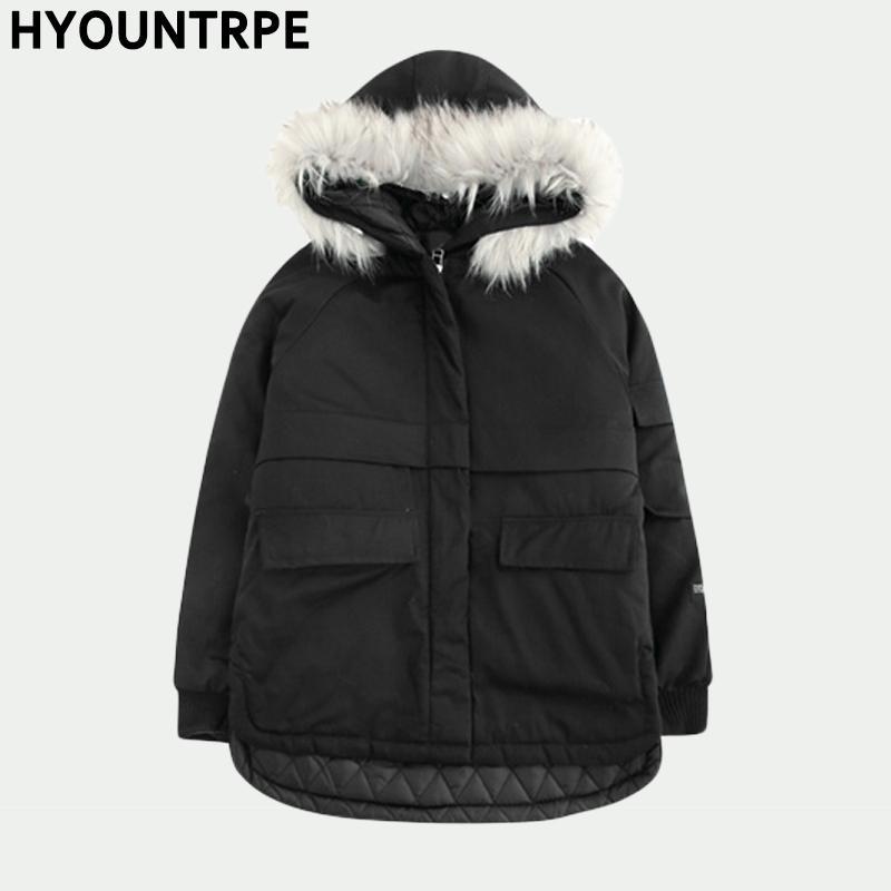 Mens Faux Fur Pieced Parka Hooded Jacket Fashion Overcoat Winter Warm Outwear 17