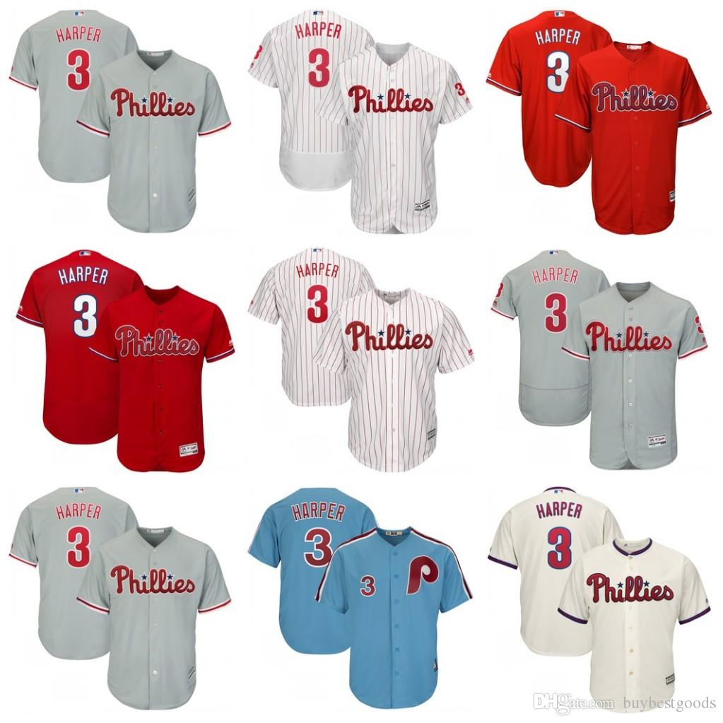 2019 New 3 Bryce Harper Jersey Phillies Philadelphia Flexbase ... 2128a6fd8d3