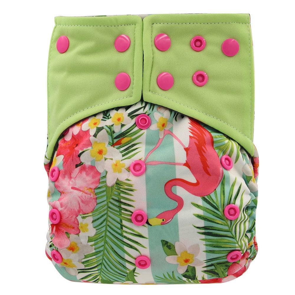 709412710 Compre Ohbabyka Pañales Reutilizables Pañales Para Bebés Cubierta Con  Estampado De Flamingo AI2 Pañal De Bolsillo Bambú Lavable Inserto De Carbón  De Leña ...