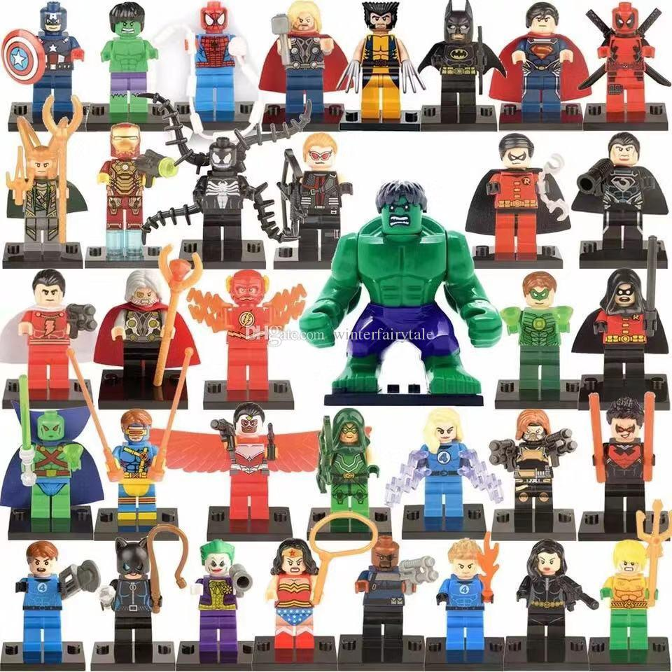 35 pieces of building blocks Superhero Toys Avengers Toys Hulk Captain America Kids Christmas Gifts