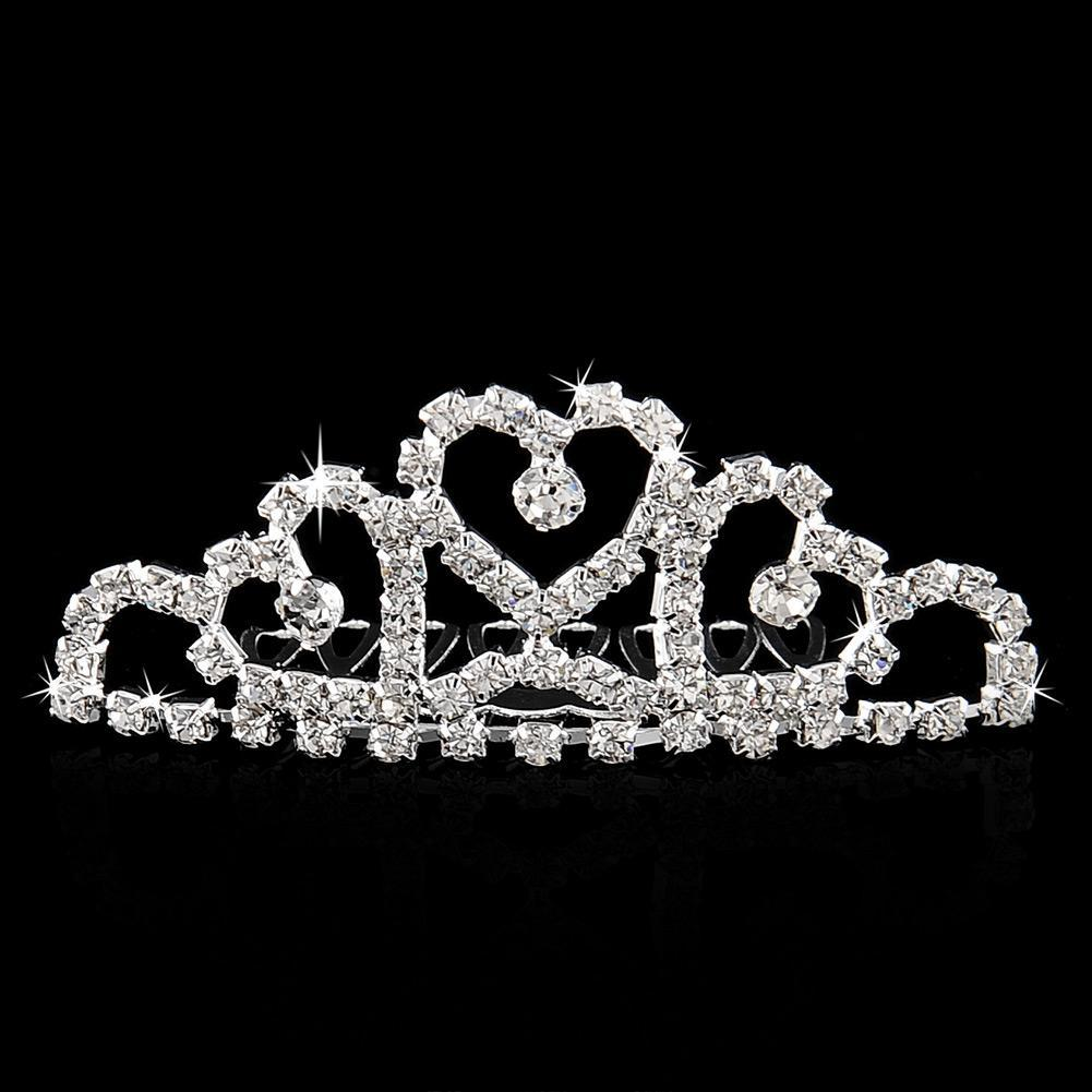 Wholesale-Mini Twinkle Rhinestone Diamante Bridal Princess Crown Hair Comb Hair Clip Tuck Tiara Party Wedding