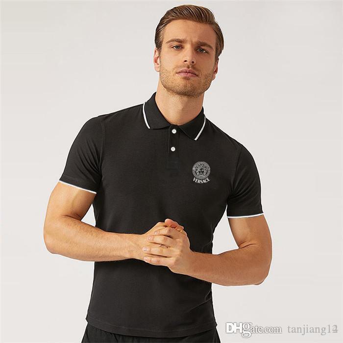 028a01dd9b7f Hot Short-sleeved Men s T-shirt Korean Version of Slim Fit Trend ...
