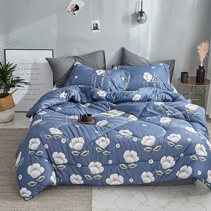 2019 Winter Comforter Microfiber Edredon Quilted Thicken Bedding