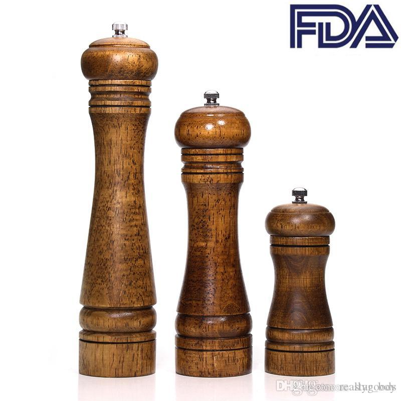 "Wood Salt and Pepper Mills Solid Wood Pepper Mill With Strong Adjustable Ceramic Rotor Grinder 5"" 8"" 10"" - Kitchen Tools By Star_Boy"