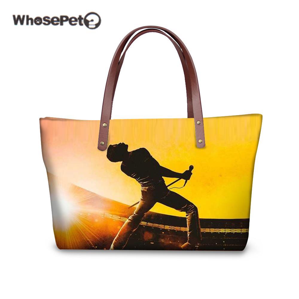 492b7de4b7 WHOSEPET Women Purses And Handbags Queen Band Bohemian Rhapsody Shoulder Bag  For Female Ladies Fashion Large Tote Bag Baobao Mens Leather Bags Laptop ...