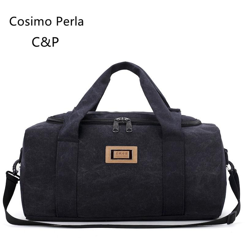 7626687a5d High Quality Canvas Travel Bag Large Capacity Luggage Bag Men Shoulder  Handbag Crossbody Travel Duffel Bags Women Moving Handbag Messenger Bags  For Men Hobo ...