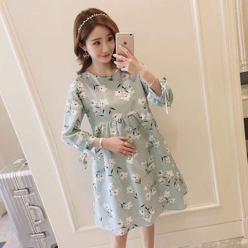 94b0e3081 Compre 126   2019 Moda De Primavera Impreso Vestido De Lactancia De  Maternidad Ropa De Lactancia Materna Para Mujeres Embarazadas Embarazo  Lactancia Materna ...