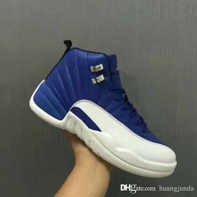 best authentic 2067a 2becd Cheap Mens Jumpman 12 XII basketball shoes 2018 newest 12s UNC Royal Blue  Suede Red Velvet OVO J12 PSNY sneakers with original box for sale